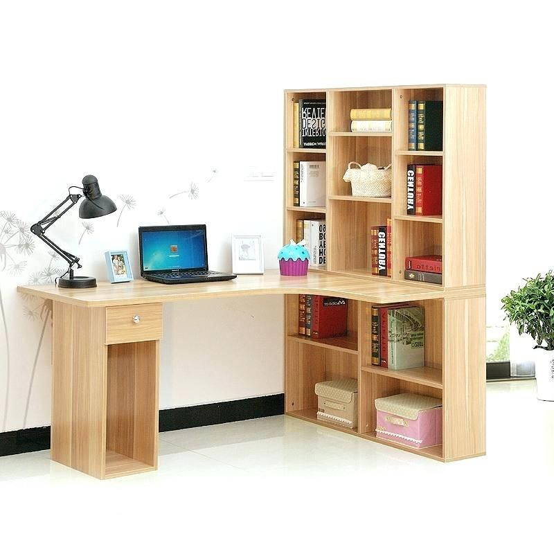 Bush Cabot Corner Desk Bookcase Combo Popular Leaning Bookcase