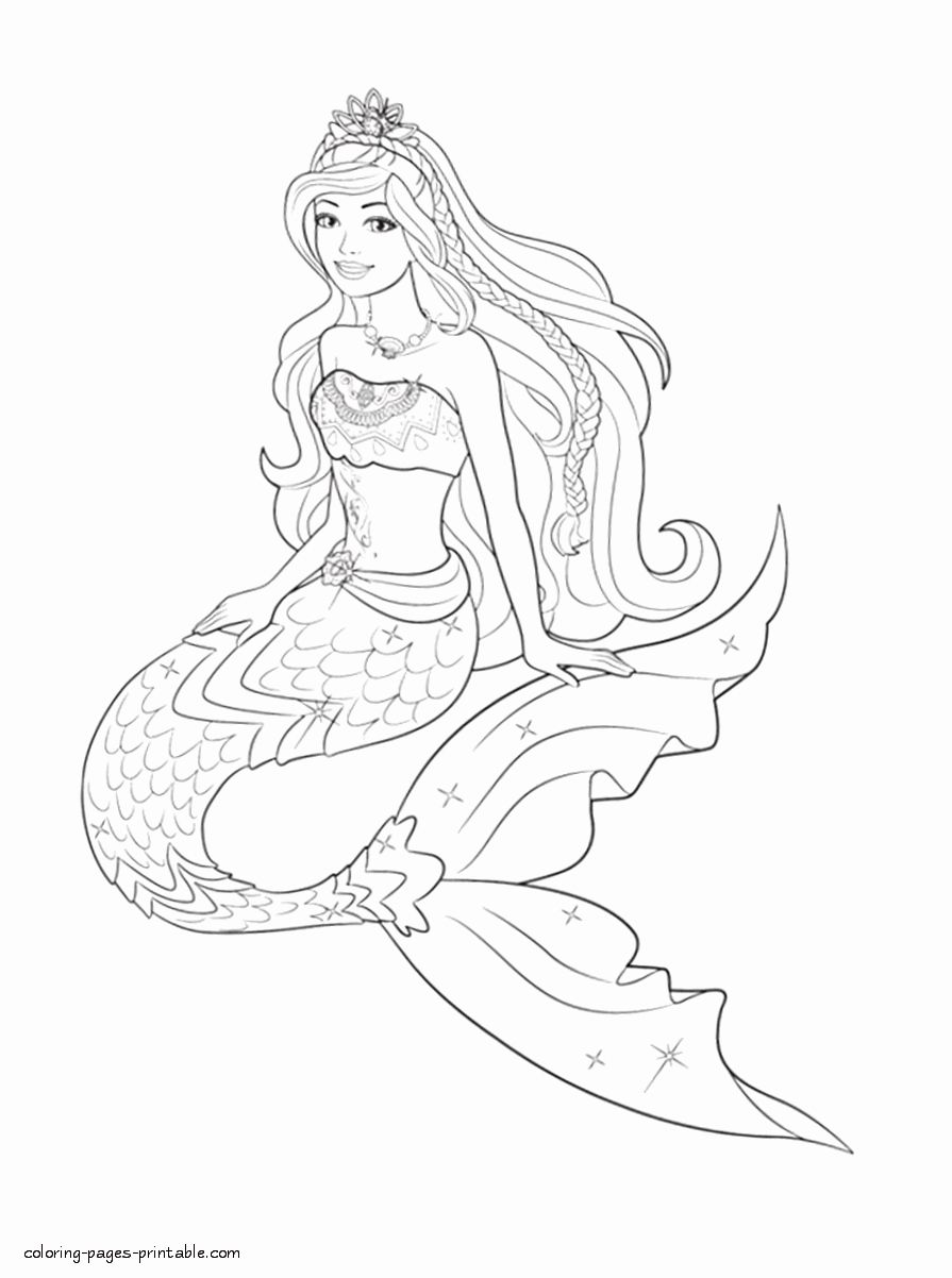 Barbie Mermaid Coloring Page Unique Barbie Coloring Pages To Print Coloring Pages Printable Mermaid Coloring Pages Barbie Coloring Pages Mermaid Coloring