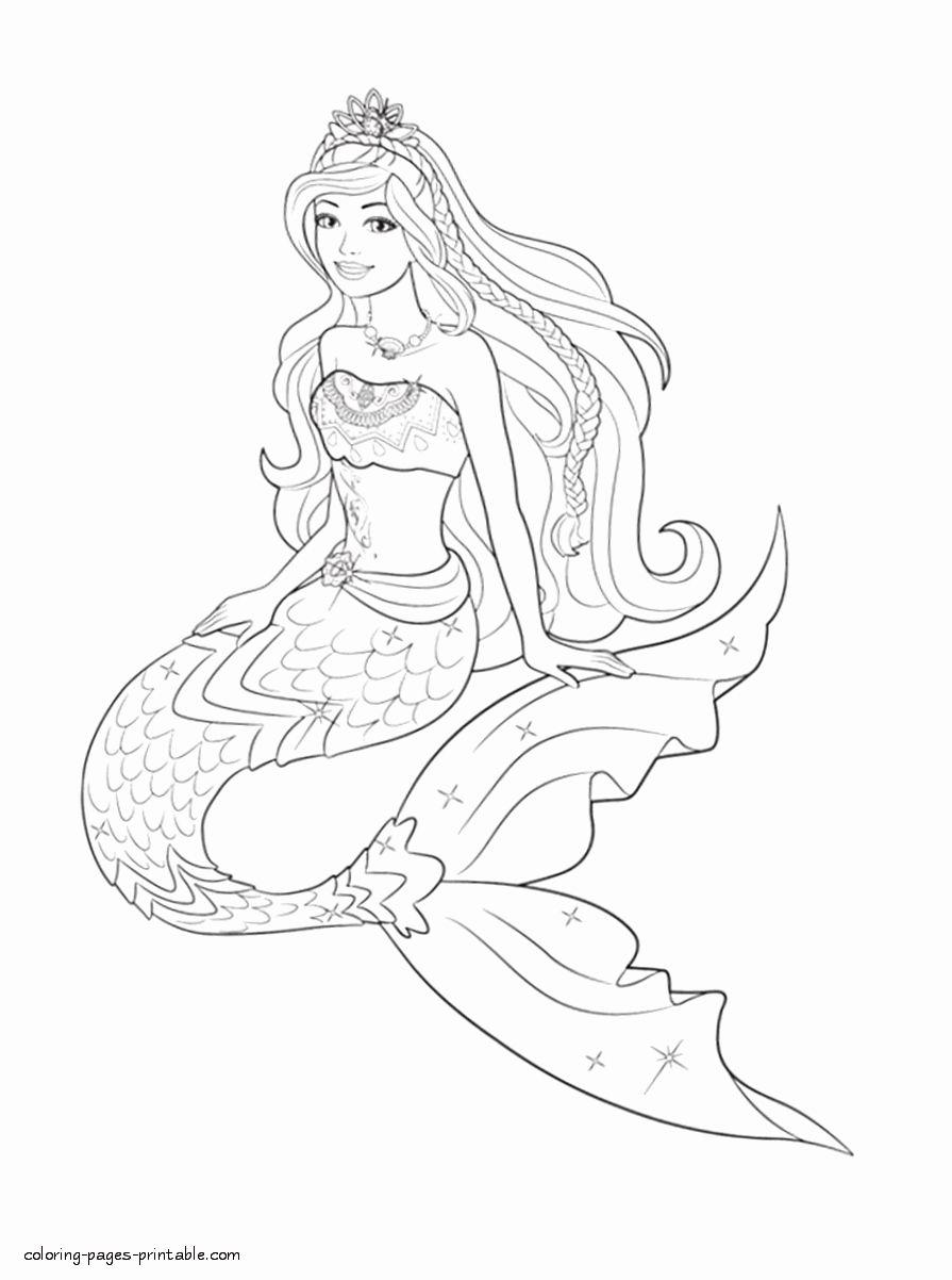 Barbie Mermaid Coloring Page Unique Barbie Coloring Pages to Print