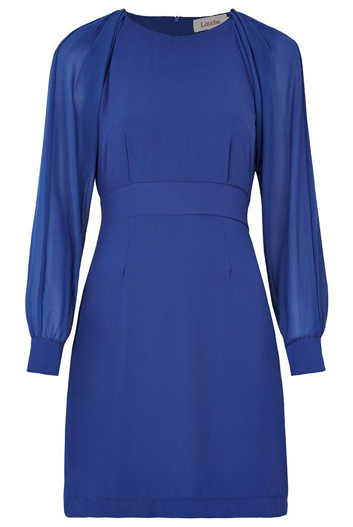 Louche Detton Chiffon-Sleeve Dress