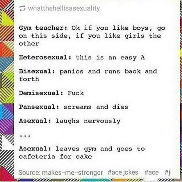 Asexuality cake analogy