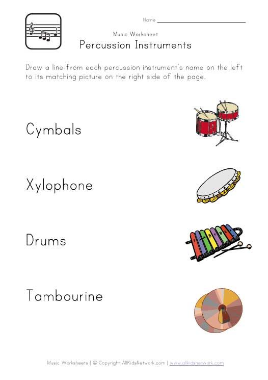 percussion instruments worksheet | Elementary Music ...