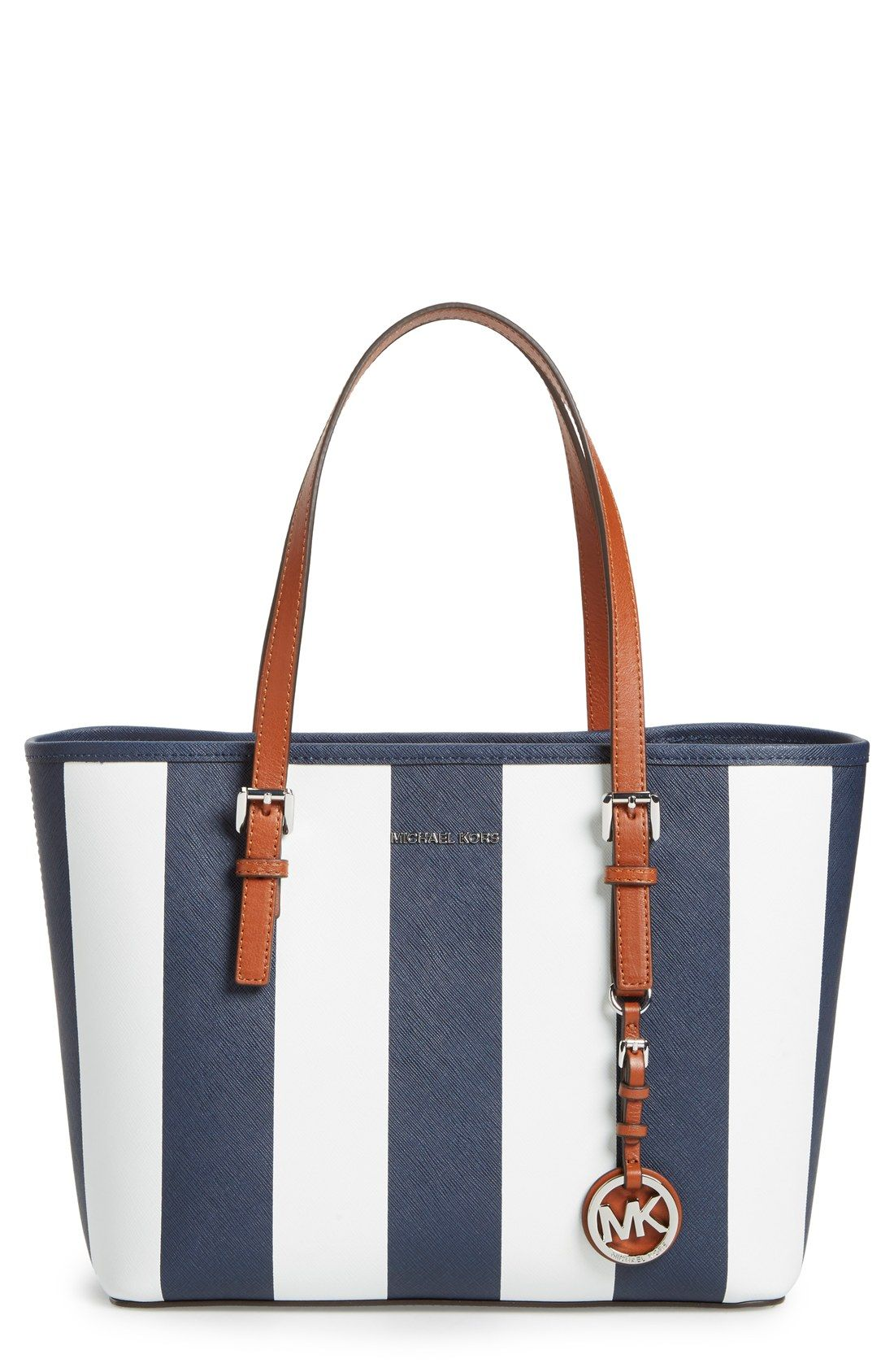 d0d91e76dbc0 Nordstrom SALE Handbags Perfect for Spring 2016 - Shop Nordy. MICHAEL  Michael Kors 'Small Jet Set - Stripe' Leather Travel Tote
