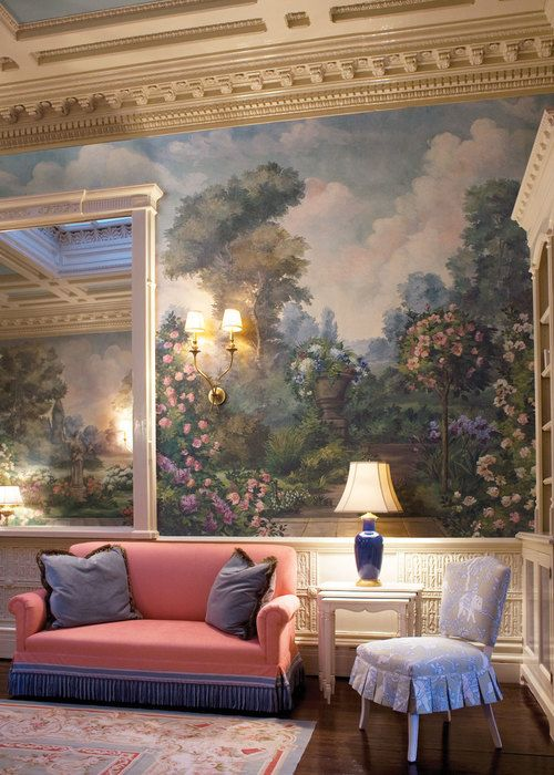 Blog All Things Wallpaper Trompe L'oeil Pinterest College New Interior Design Programs Boston Painting