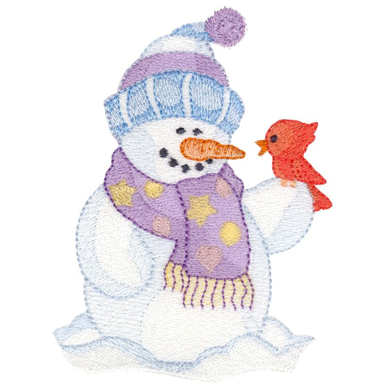 Snowman Cardinal Machine Embroidery Projects Machine Embroidery Designs Machine Embroidery Christmas
