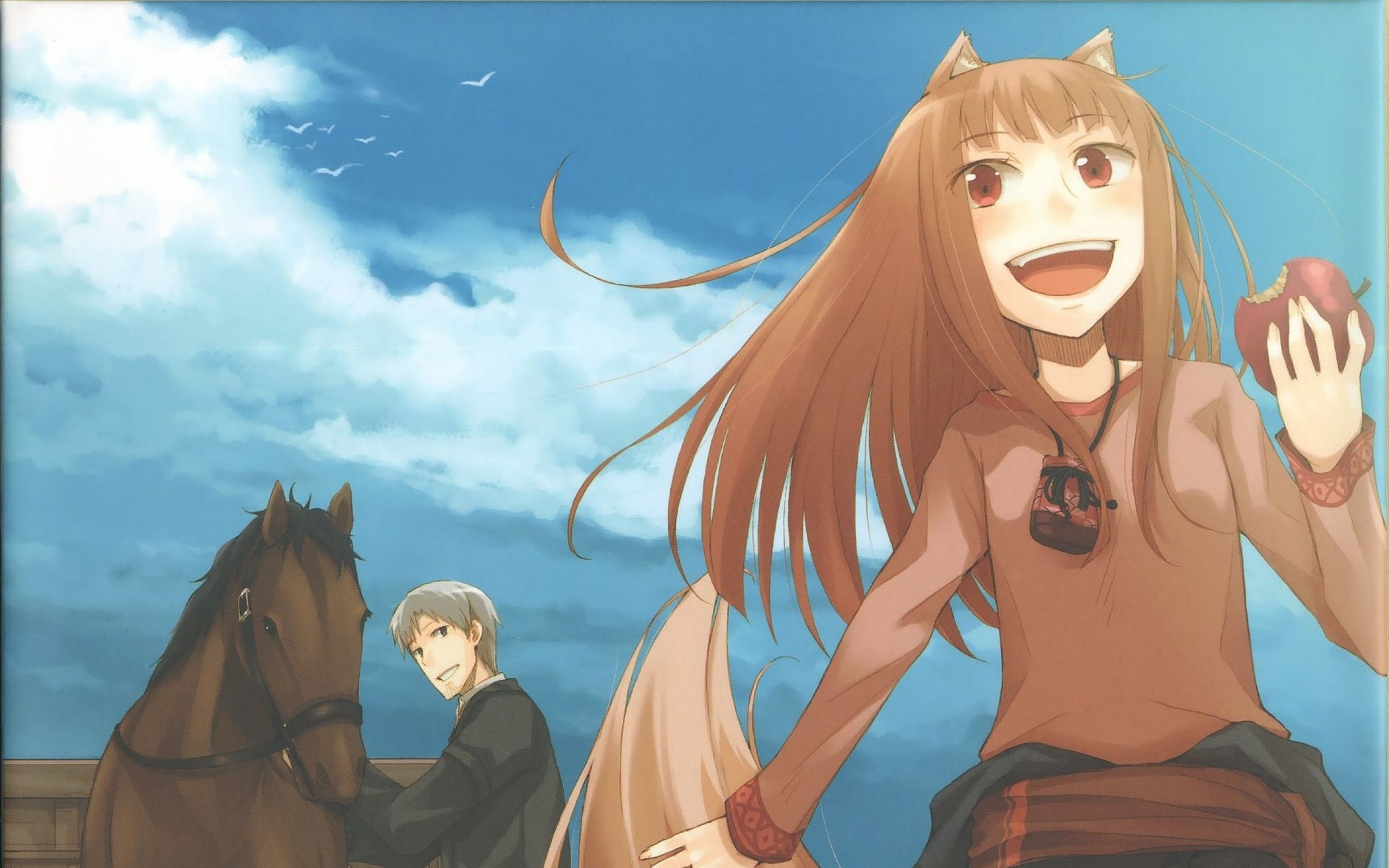 Brunettes Spice And Wolf Animal Ears Red Eyes Craft Lawrence Open