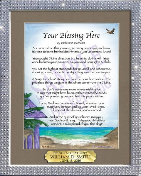 An Inspirational Blessing For Family Or Best Friend Its Ideal For Any Special Occasion