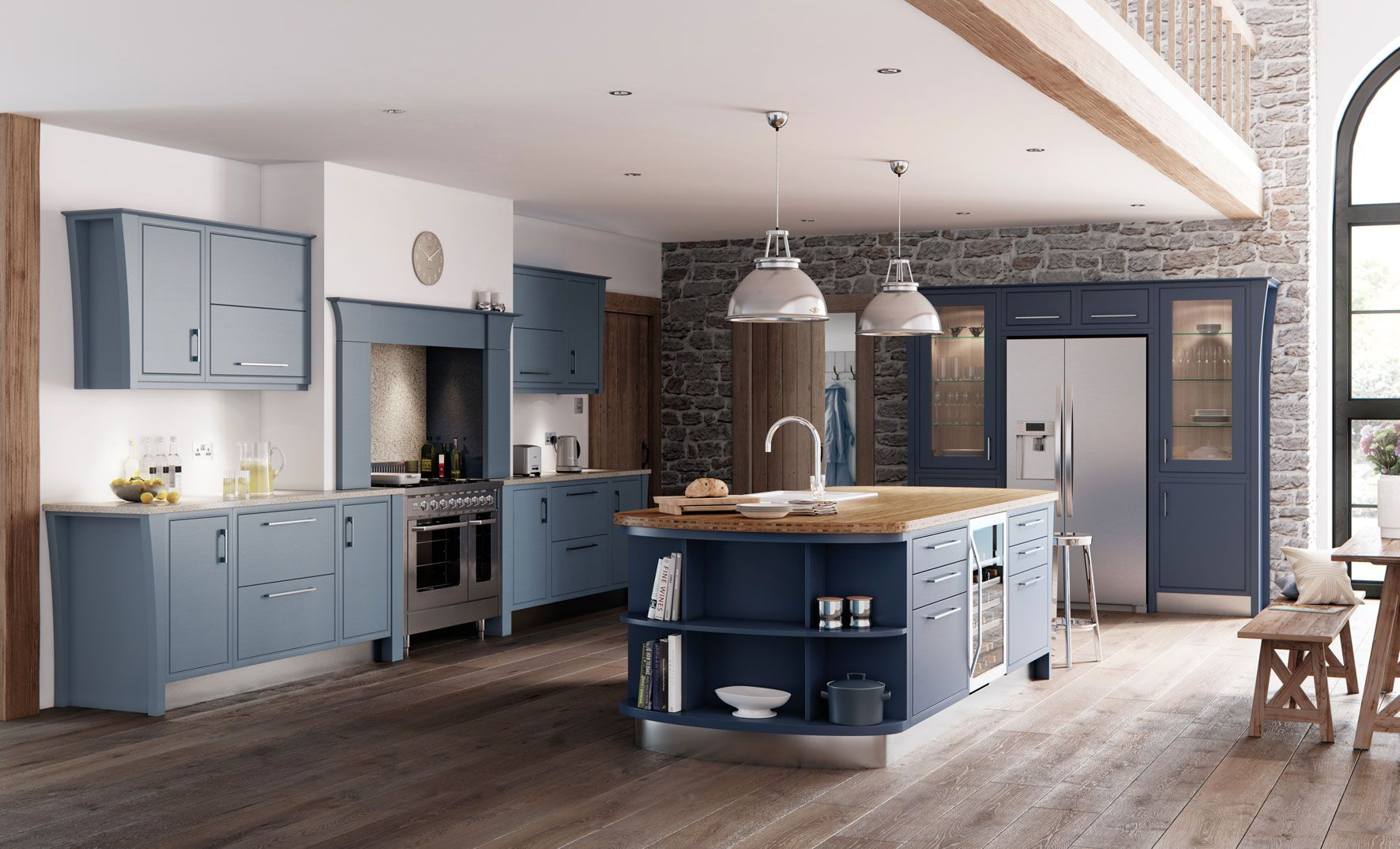 The Kensington Painted Kitchen in Denim and Midnight is