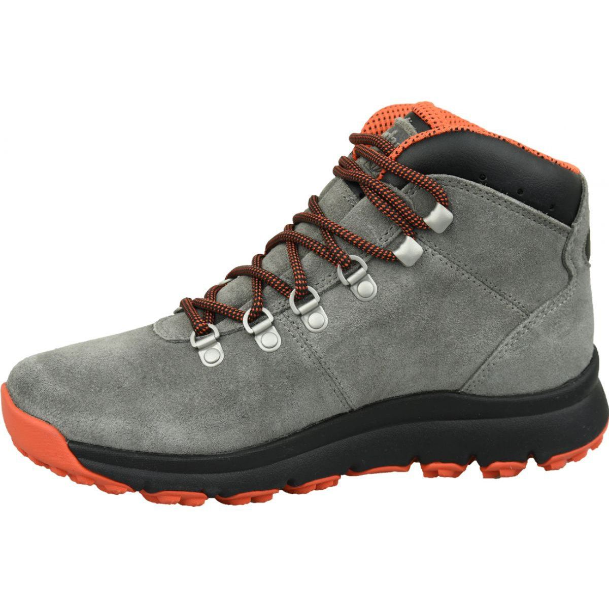 Buty Zimowe Timberland World Hiker Mid M A1z11 Szare Winter Shoes Sport Shoes Men Shoes