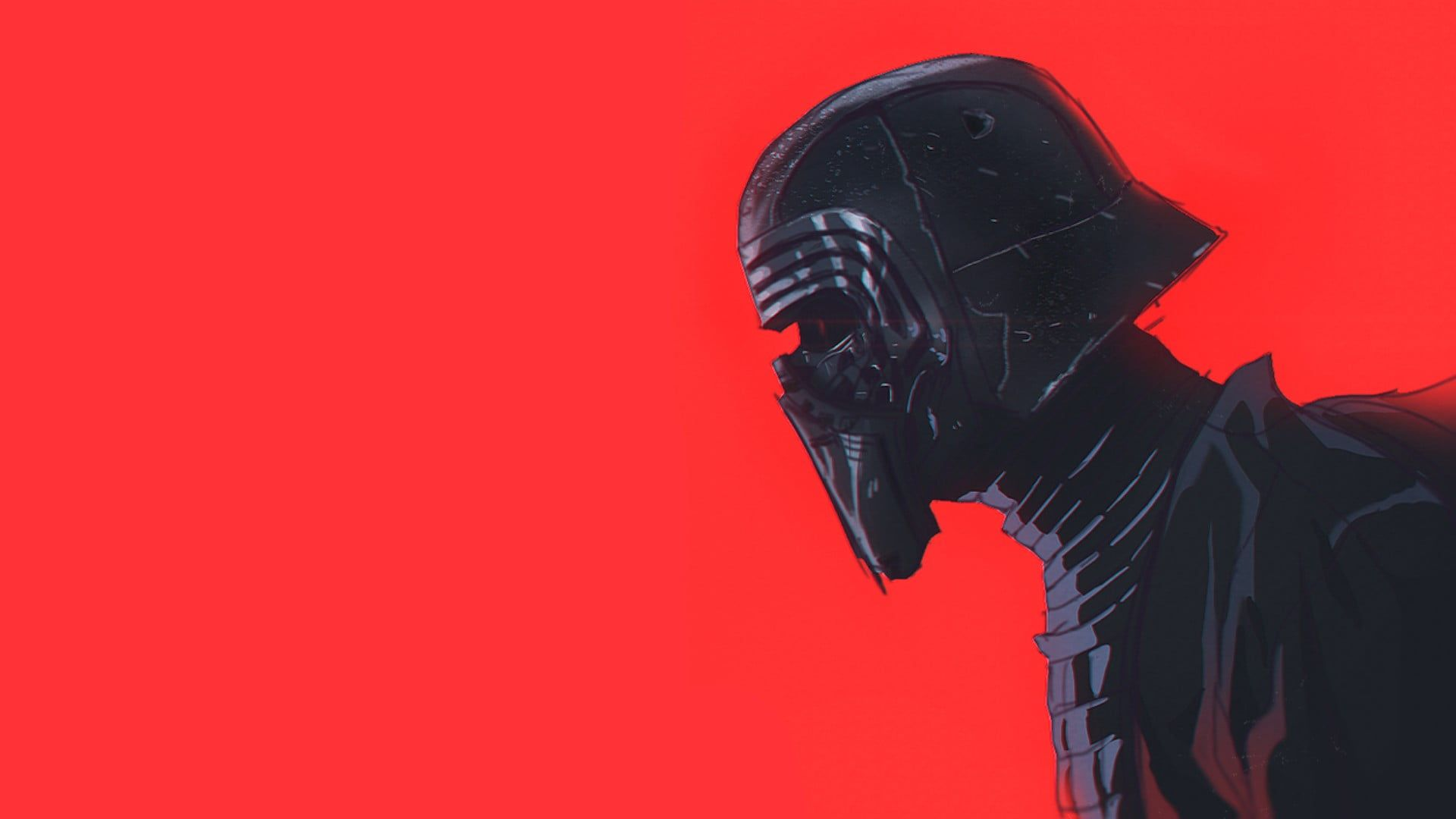 Dart Vader Illustration Kylo Ren Star Wars Mask Red 1080p Wallpaper Hdwallpaper Desktop Kylo Ren Wallpaper Star Wars Wallpaper Star Wars Background