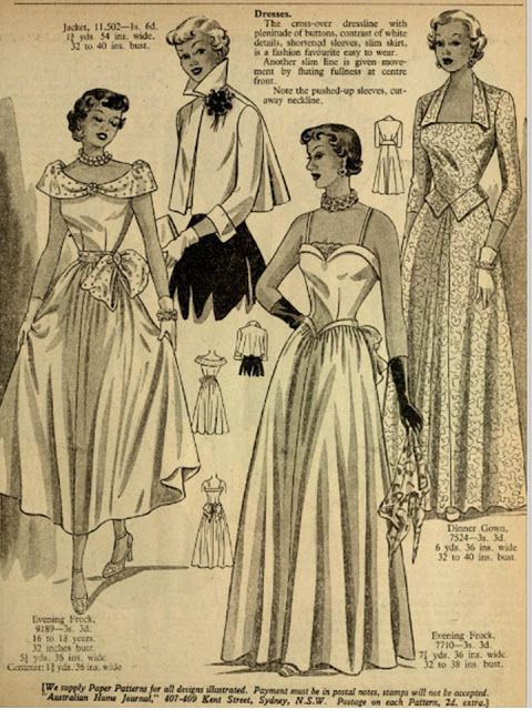 1950s prom or party dresses how to sew. Easy to make dresses from ...
