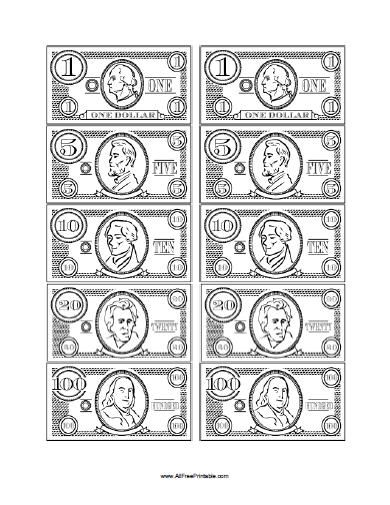 Free Printable Play Money Body Parts Play