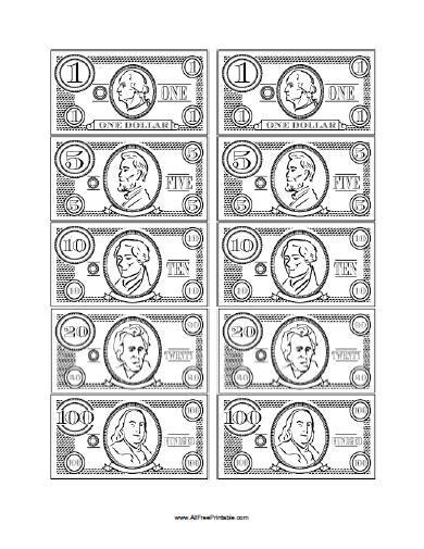 Free Printable Play Money | Math/First Week Fun | Pinterest ...