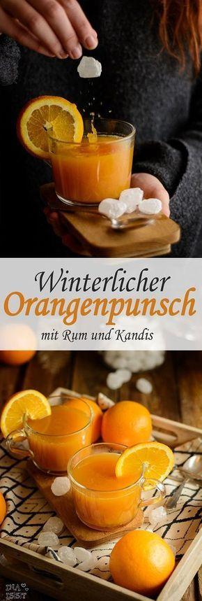 Winterlicher Orangenpunsch mit Rum und Kandis von Diamant Zucker - Ina Isst
