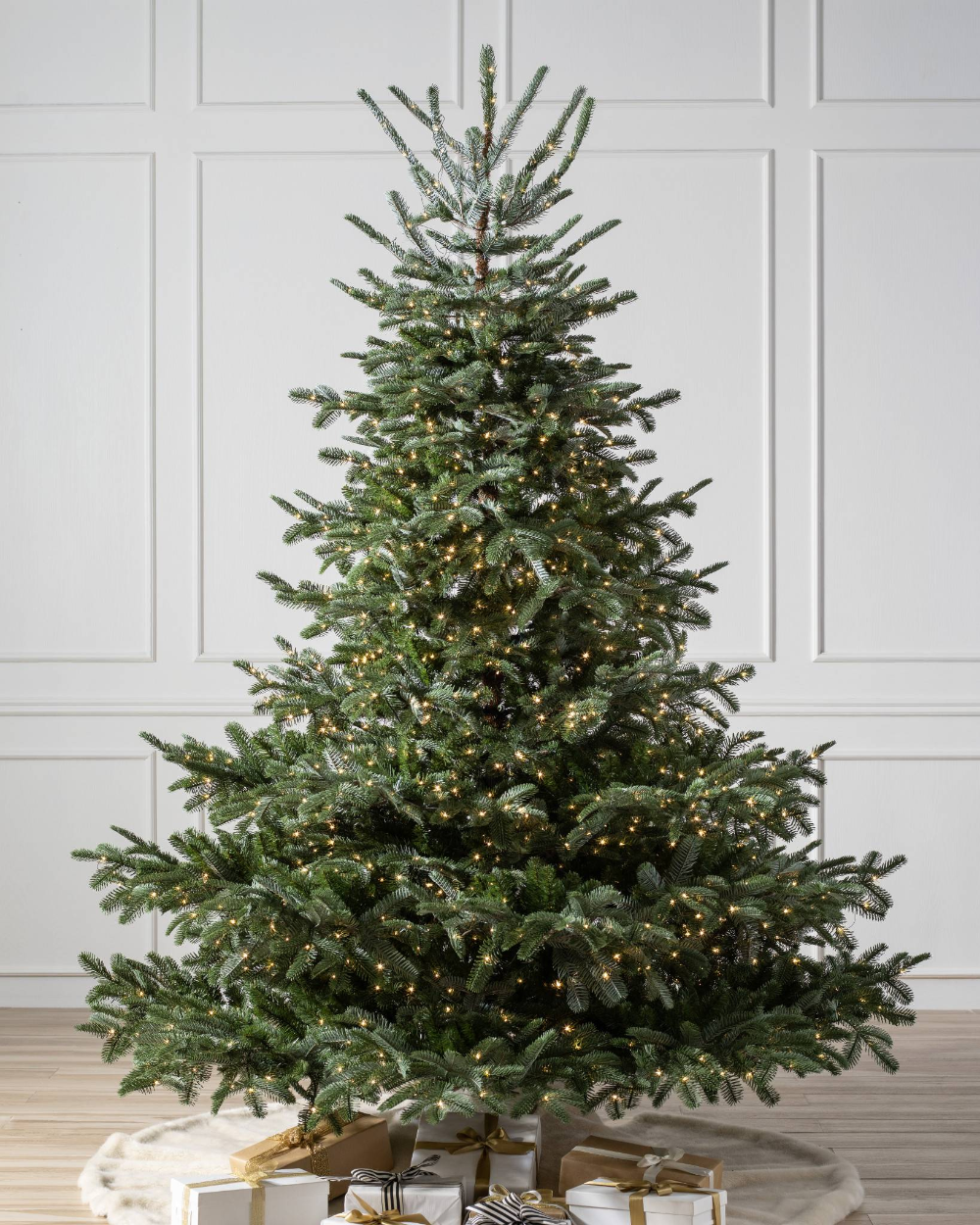 Martha Stewart Living 7 5 Ft Pre Lit Sparkling Pine Artificial Christmas Tree With Multi Col Artificial Christmas Tree Pine Christmas Tree Christmas Tree Shop