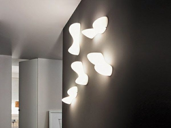 Decorative led lights black wall with four eye catching wall lamps decorative led lights black wall with four eye catching wall lampsg 600450 basement lighting pinterest led ceiling light fixtures aloadofball Choice Image