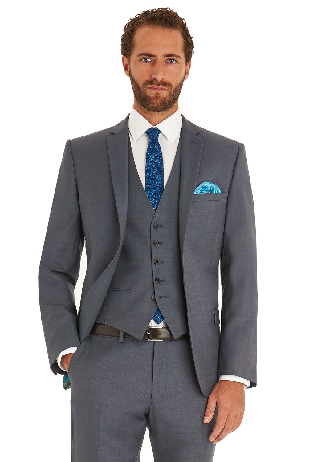 e6090797c9d6f9 This steel grey Ted Baker Endurance mixer suit Jacket is single breasted  with a notch lapel. It has a two button fastening