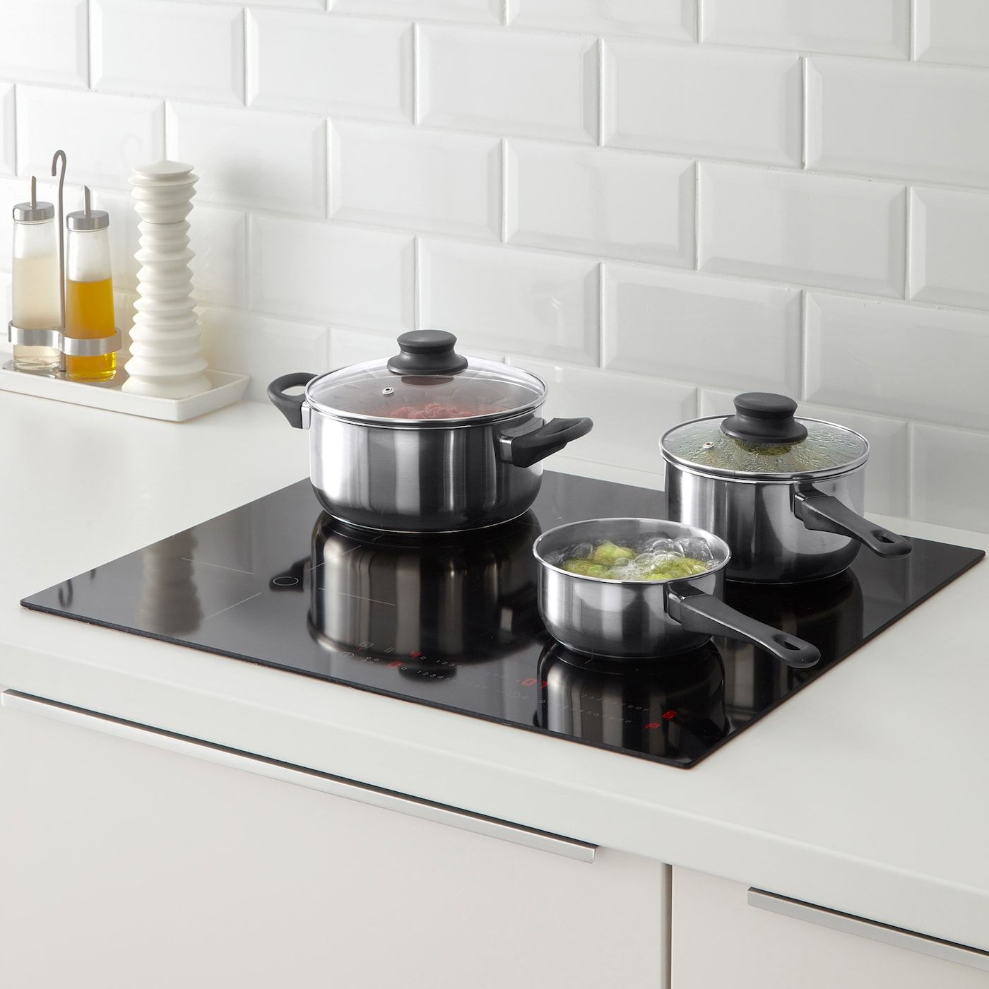 Ikea Annons 5 Piece Cookware Set Glass Stainless Steel In 2020