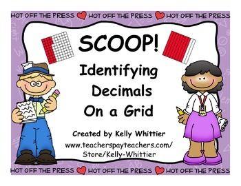Scoop Identifying Naming Decimals On A Hundredths Grid