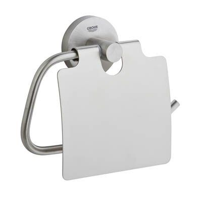 Grohe 40657001 Essentials Authentic Paper Holder Without co Starlight Chrome