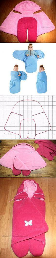 Baby swadling wrap pattern Как сшить пеленку на липучках: выкройка и мастер класс по шитью.
