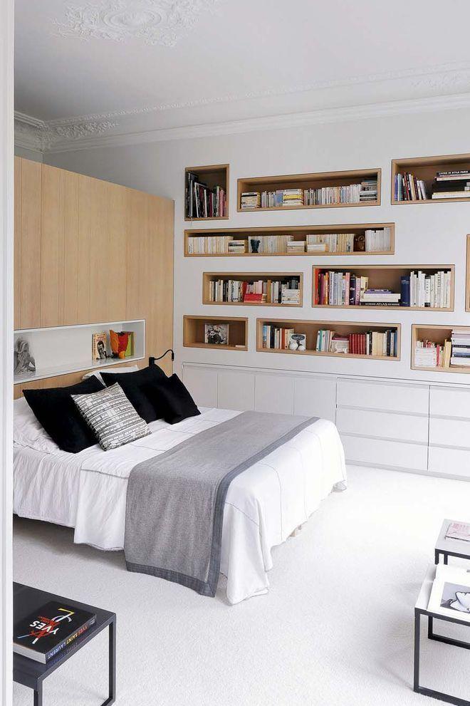 Une Chambre Avec Tete De Lit Comme Demi Cloison Deco Chambre