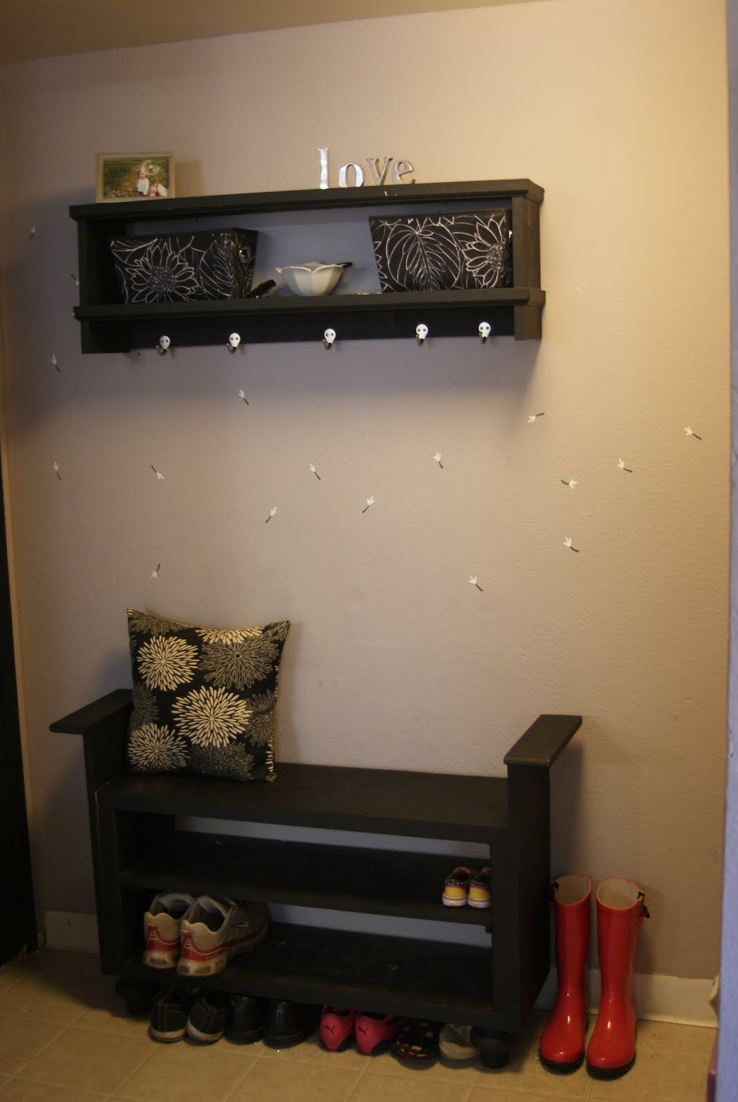 Mudroom Bench Ideas Cool Varnished Wooden Entryway