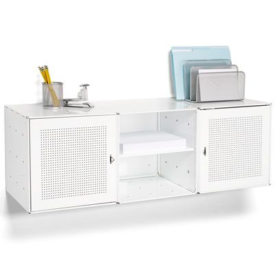 White Enameled Qbo Steel Wall Cube Credenza Wall Cubes Wall Mounted Shelves Steel Wall