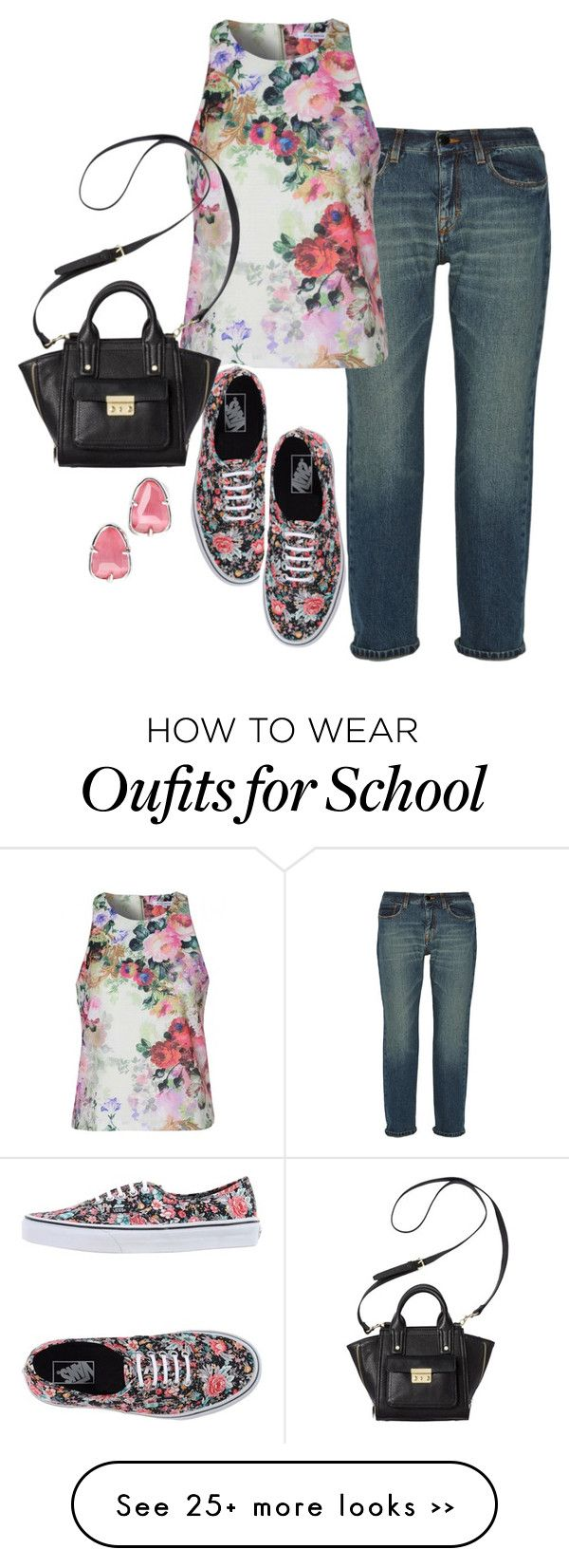 """walking my baby to school"" by trishica on Polyvore featuring dVb Victoria Beckham, Vans, 3.1 Phillip Lim and Kendra Scott"