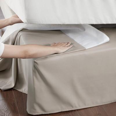 Khaki Simple Fit Wrap Around Adjustable Bed Skirt Adult Unisex