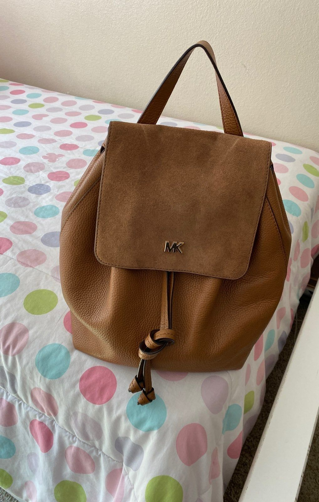 Used 1 Time Mk Backpack I M Great Condition Michael Kors Backpack Backpacks Leather Backpack