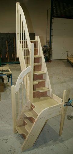 Left Quarter Turn Spacesaver Staircase Space Saving