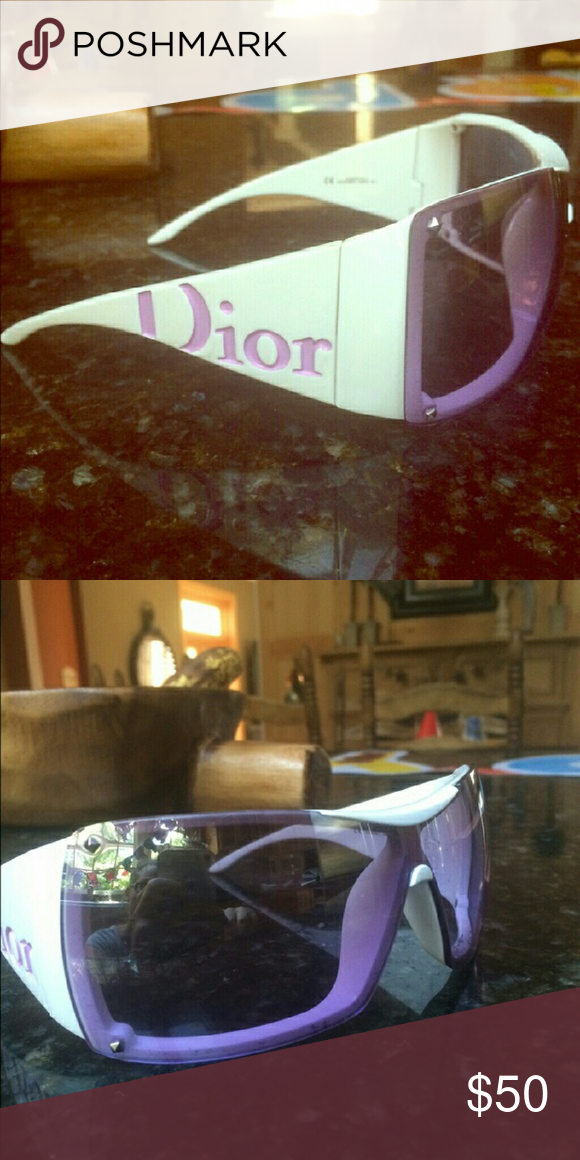 af2d3f5d85a6 Purple-pink lenses with Dior logo on both sides. Semi oversized fit.Retails  at 150 plus.Good condition final price Dior Accessories Sunglasses