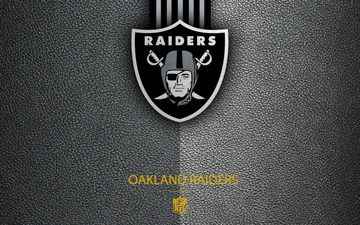 Download wallpapers Oakland Raiders, 4K, American football