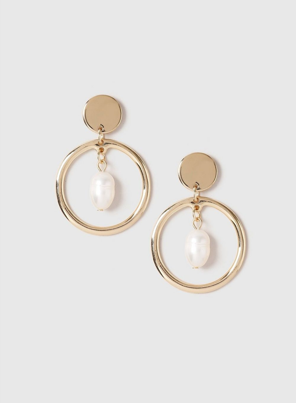 745a1c59b Gold Circle Drop Pearl Earrings - View All New In - New In - Dorothy Perkins  United States