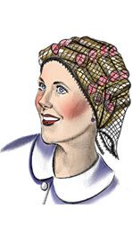 I remember seeing women with rollers in their hair at the grocery store
