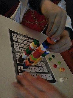 Tablero Casero Lego Apilando Hasta El Cielo Matematicas
