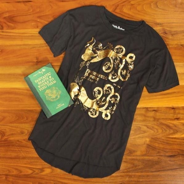 Harry Potter Fantastic Beasts And Where To Find Them Gold Foil Girls  T-Shirt. Harry Potter ClothingNormal PeopleFandom FashionCasual ...