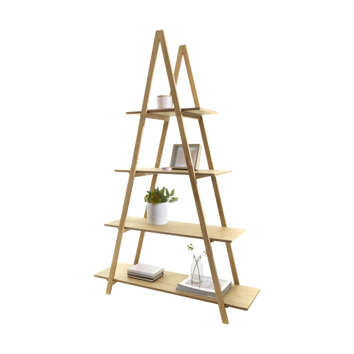 a frame ladder bookshelf