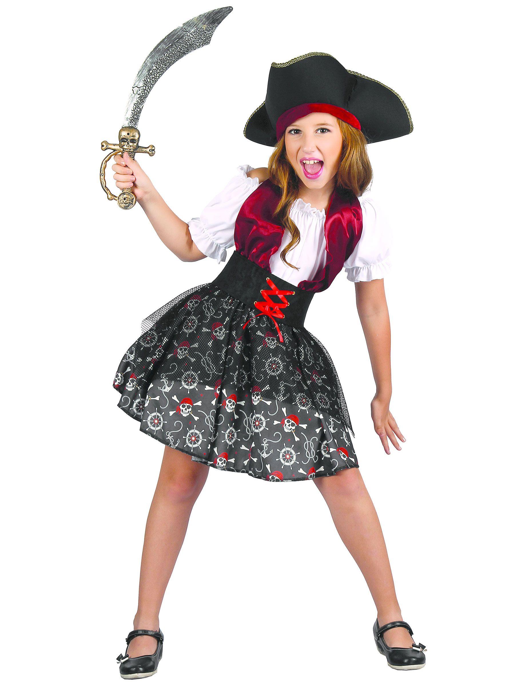82a58397f Disfraz pirata para niña en 2019 | Disfraces | Disfraz pirata niño ...