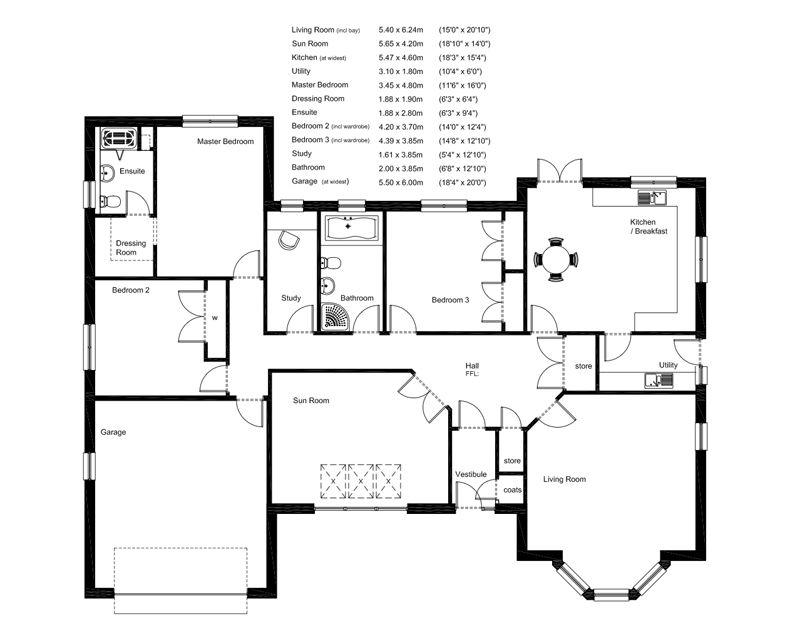bungalow floor plans uk Google Search My house plans