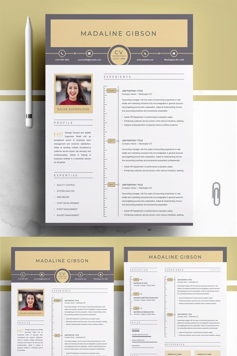 Madaline gibson resume template affiliate gibson