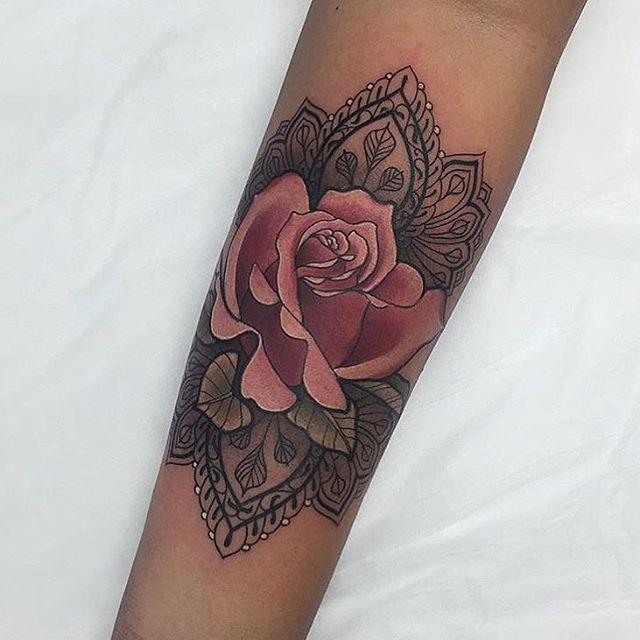 d02465179c9d8 Mandala rose … | Tattoo ideas | Tatue…