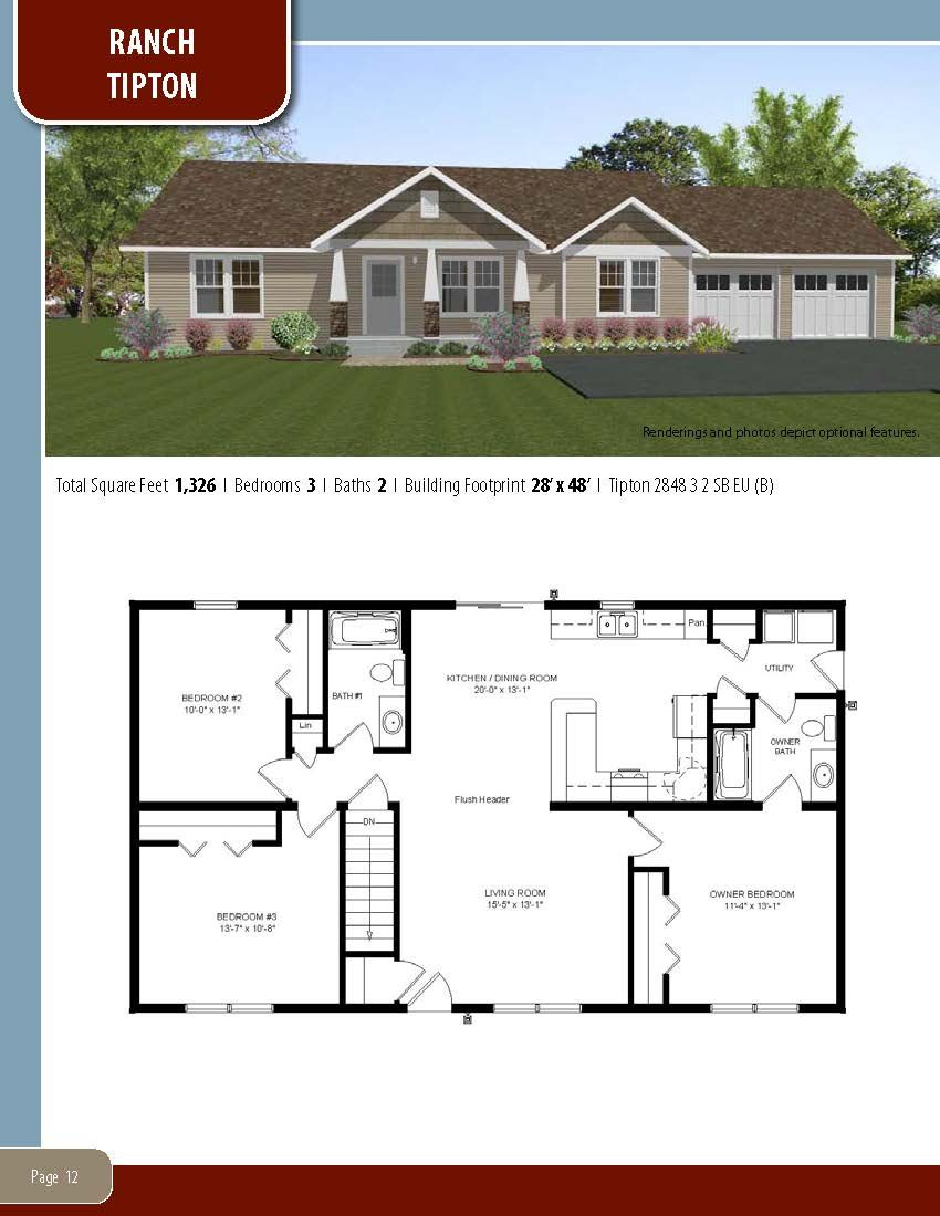 To Learn About Building Your New Home With All American Homes Visit Our Website At Www Allamericanhomes Co My House Plans Dream House Plans Modular Home Plans