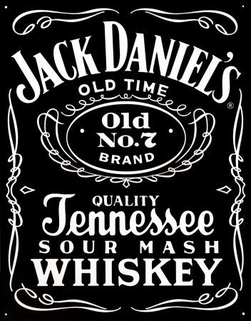 Jack daniels uses both bold and normal fonts on their logo for Pochoir jack daniels