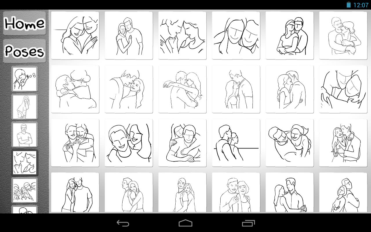 Wedding Poses Ideas Cheat Sheet   Posing App - screenshot   Poses
