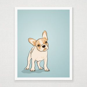 French Bulldog Puppy Print II, $24, now featured on Fab.