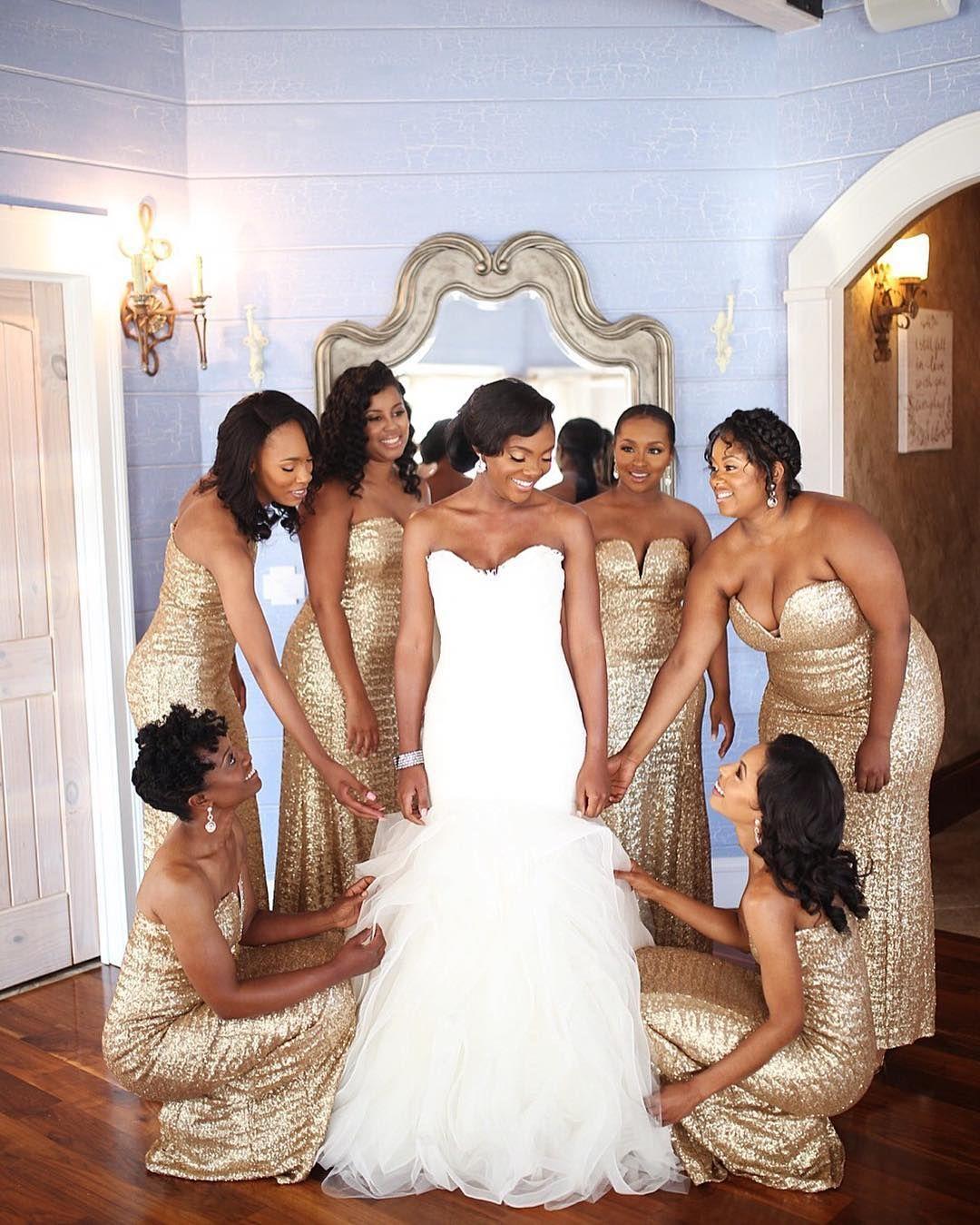 20 Flawless Black Wedding Parties Black Girl With Long Hair Bridesmaid Wedding Wedding Poses [ 1349 x 1080 Pixel ]