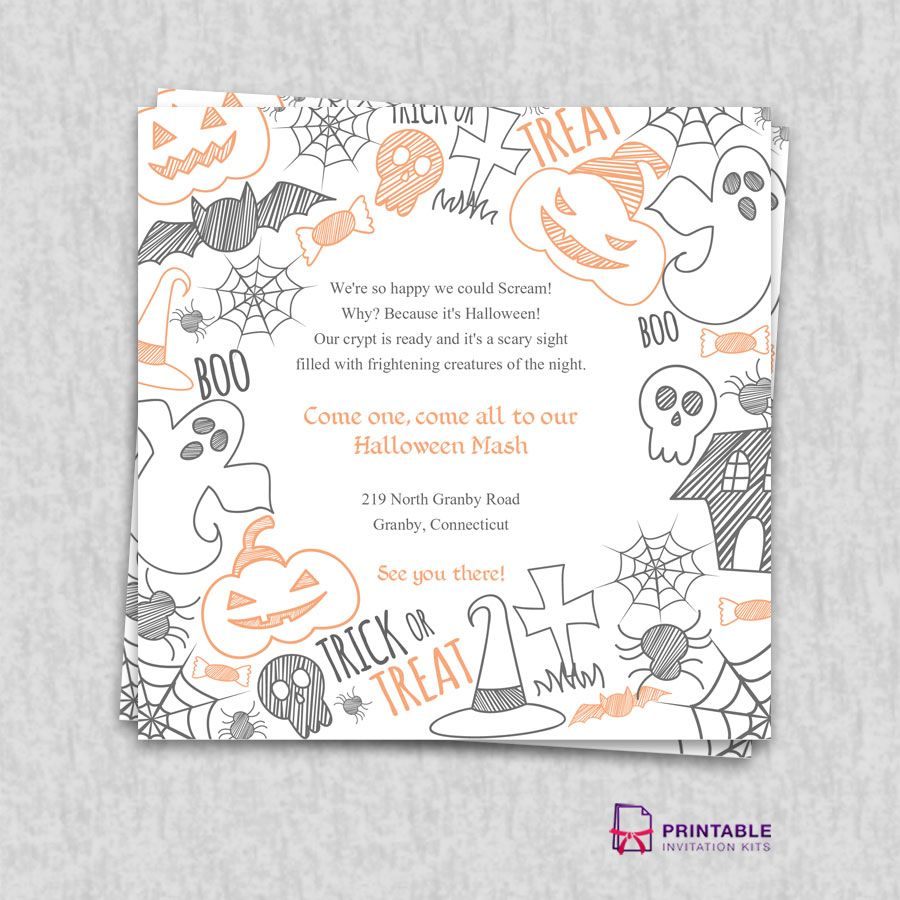 Free PDF Download Halloween Party Invitation Template Wedding - Party invitation template: masquerade party invitations templates free