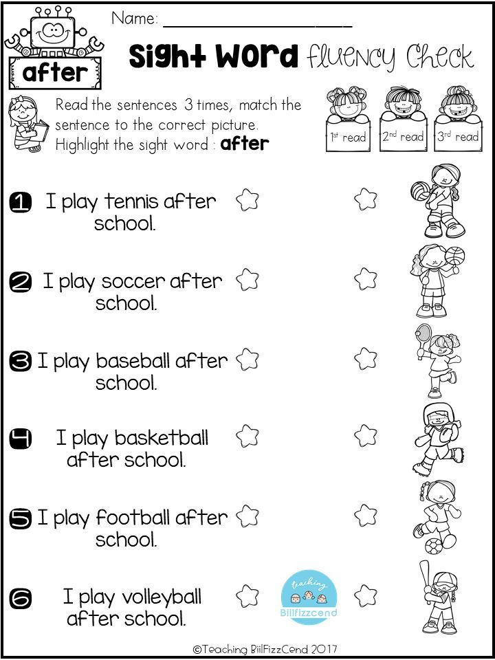 Free Sight Word Fluency Check Bahasa Simpul